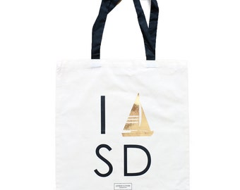 San Diego Bachelorette Gift Bag and Wedding Guest Tote