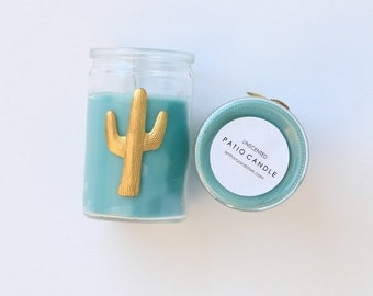 Gold Cactus Patio Candles
