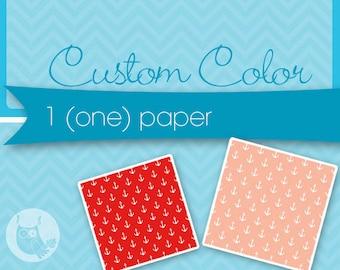 Custom color for 1 (one) none exclusive paper, custom color for purchased digital paper, recolour, Prettygrafik