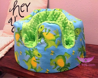 Dragon and Green Minky Bumbo Seat Cover