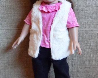 American Girl Furry Vest, Pants and Top