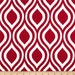 One and One Half Yard - Nicole Lipstick Premier Prints Fabric - Red and White Home Dec Fabric