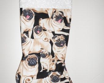 Pug Christmas stocking
