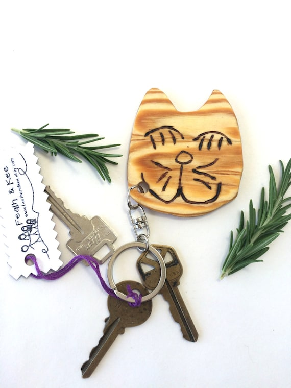 Cat Key Chain / Backpack Charm from Feath & Kee