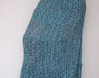 Ornamental bohemian summer maxi long viscose skirt