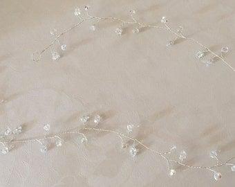 Bridal wedding 24 inch crystal hair vine