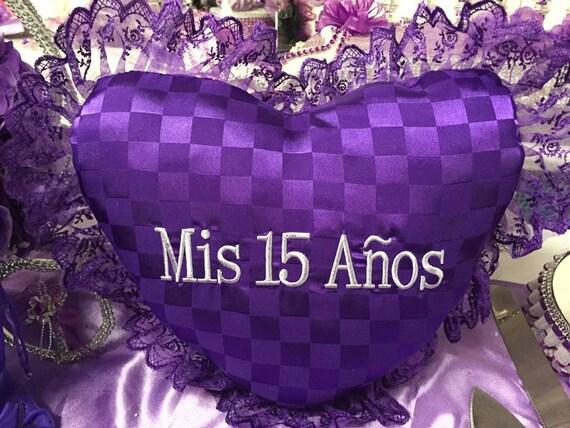 15 Anos Pillows: Mis Quince Anos Heart Shaped Tiara Pillow Or Shoe Pillow
