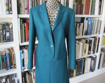 LOUIS FERAND PARIS Teal Suit Made in W. Germany Size Med/Lg