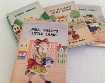 4 Tiny Golden Books - 1949