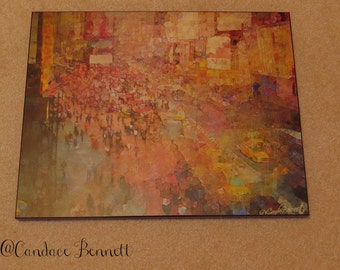 New York - Times Square (Size 11x14 wood art)