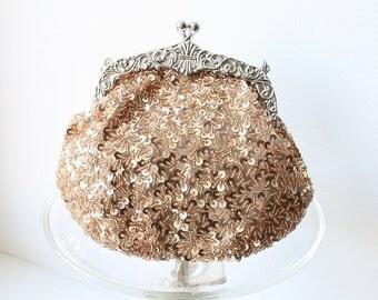 Bridal Clutch, Champagne Sequin Bridal Handbag, Bridesmaid Clutch, Sequin Wedding Bag, Bridesmaid Gift, Bridal Clutch, Evening Handbag