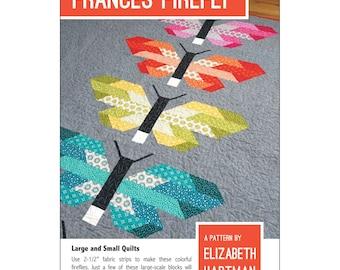 "Pattern ""Frances Firefly"" by Elizabeth Hartman (EHP026) Paper Pattern Strip Pieced Quilt"