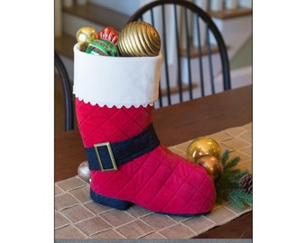 """Pattern """"Santa's Stand-Up Boot"""" by Indygo Junction (IJ1155CR) Paper Pattern Holiday Craft"""