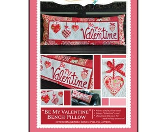 "Pattern - ""Be My Valentine"" Bench Pillow Paper Sewing Pattern / Instruction Booklet by KimberBell (KD166)"