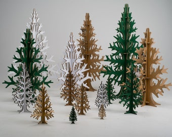 2m / 6,56 ft super tall cardboard laser-cut christmas tree, modern Holiday decoration, home and office decor,