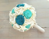 CUSTOM ORDER Beach Wedding Bouquet, Starfish Bouquet, Nautical Wedding