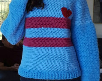 Undertale Inspired Frisk Sweater
