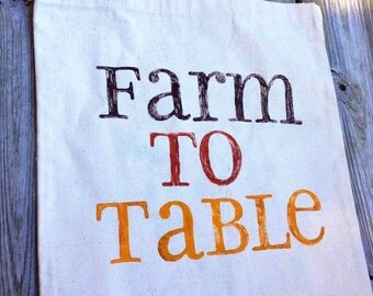 Canvas Tote - Farm To Table - Harvest Colors