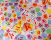 Kokka Fabric. Candy Heart Fabric. Valentines day Fabric. Japanese Quilting Fabric.