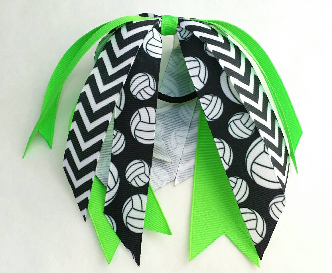 foto de Custom volleyball bow volleyball team bows ponytail ribbon
