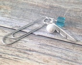 Feather paper clip Planner clip Filofax Midori Kikki K Happy Planner