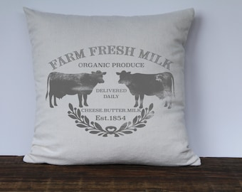 Farmhouse Pillow Cover, Custom Pillow Covers, Decorative Pillow Cover, Custom Pillow Cases, Couch Pillow Cover - GRAY