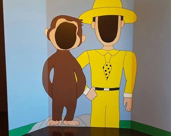 Curious George Painted Photo Op Display / Cutout Board!