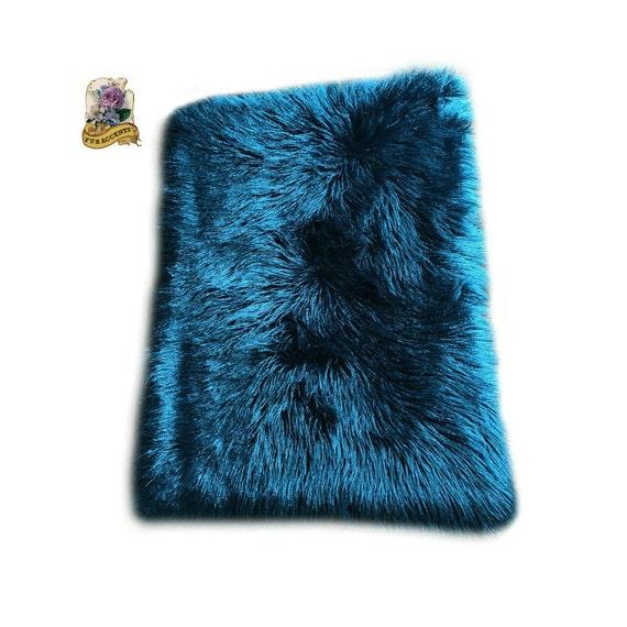Sale Soft Faux Fur Area Rug Teal Shaggy Shag Fake By