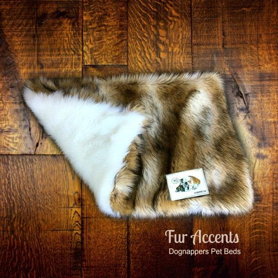 Dognapper Dog Bed Pet Cat Mat Golden Brown Coyote Stripe