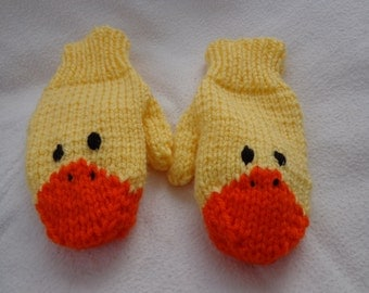 Children's Duckling Mittens- size small