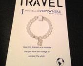 White travel bracelet (Friendship bracelet and card)