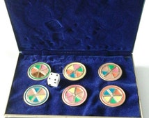 Sale Vintage Trivial Pursuit Deluxe  playing  pieces  collectors edition 1980's  14k overlay