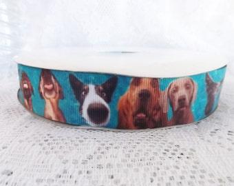 Big nose dog ribbon 1 inch dog ribbon pet ribbon 1'' 25mm cartoon dog ribbon animal ribbon