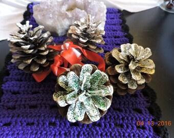 Pine Cone Door Knob Hanger for Yule/Christmas