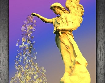 Fine Art print of angel statue photograph