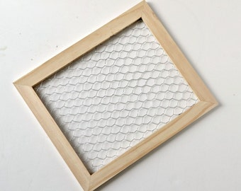 Unfinished Chicken Wire Frame - 9.5 x 11.5 Unfinished Wood - 1 piece