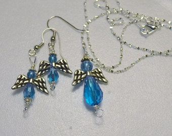 Angel Pendant and Matching Earrings