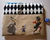 Hobbit Zipper Tasche, Tolkien inspiriert,geekery,  handmade