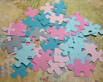 50  Die Cut , Paper Puzzle Pieces.   #KAT-53