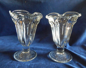 Vintage 1960'S Anchor Hocking Sundae Dishes / Glass