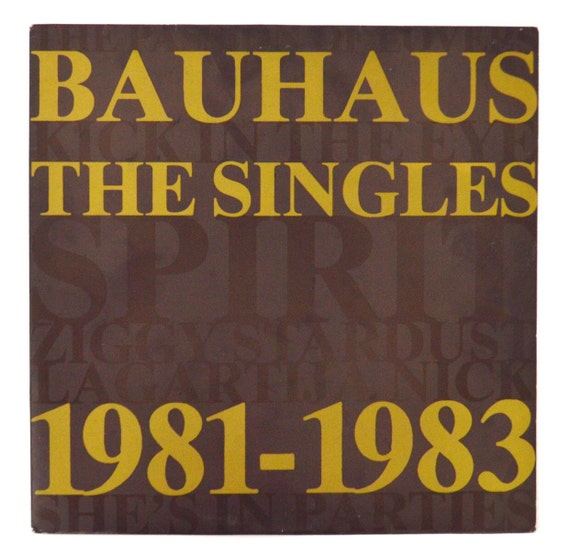 vintage 80s bauhaus the singles 1981 1983 import album by. Black Bedroom Furniture Sets. Home Design Ideas