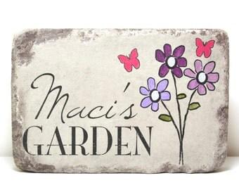 Personalized Garden Stone. Memorial Garden Stone. Heavy 6x9 Handcrafted Concrete Stone. Memorial Gift.