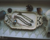 Herkimer Diamond charm bracelet // ooak // each stone is different