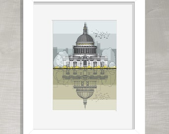 London Architectural Print - St Paul's Cathedral