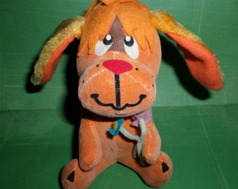 Dream Pets Vintage Dakin Dopey Dog with Flowers Stuffed Toy 60's