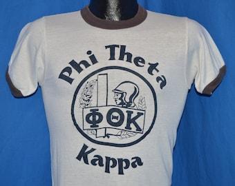 80s Phi Theta Kappa Ringer t-shirt Small