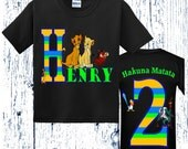 Lion King  Birthday Shirt - Front and Back Design