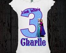 Disney Frozen Birthday Shirt - Girl Style Tee