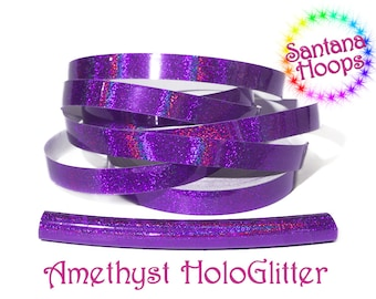 Amethyst Holographic Glitter Taped performance Hula Hoop Polypro or HDPE