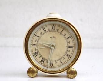 Ruhla - Vintage Buttery Mechanical Alarm Clock - Made in Germany